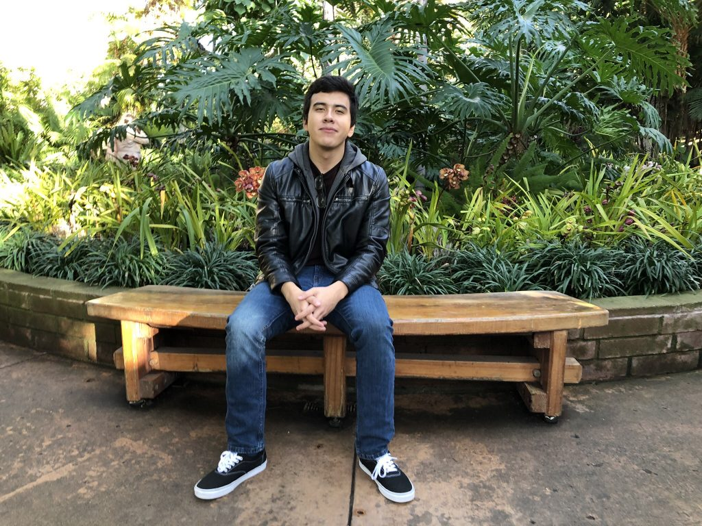Adrian on a bench